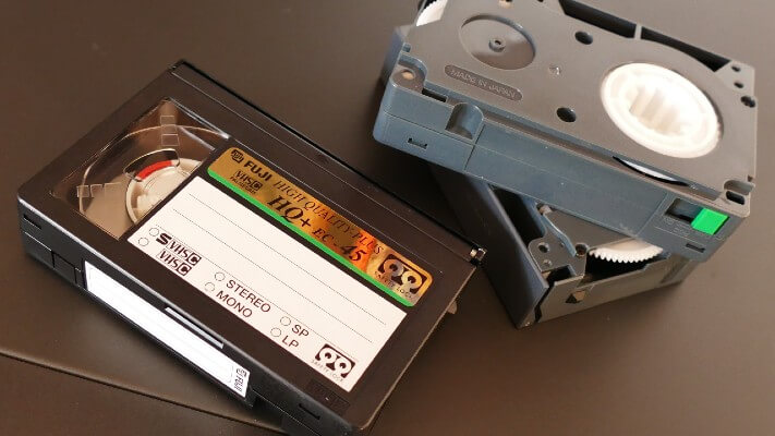 Image of old video media